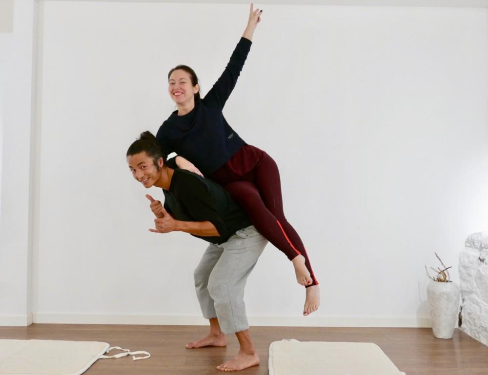 "I følge Kim gir øvelsen ""the hinge"" en struktur som kan bære så mangt - blant annet Nina Jarebrink."
