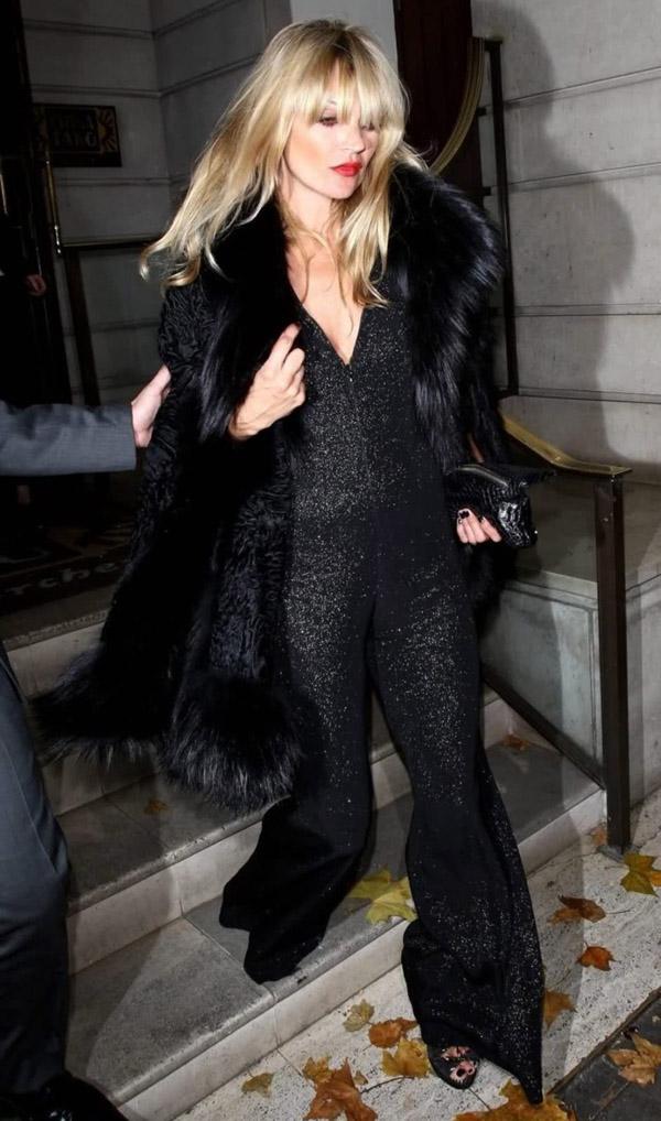 kate-moss-black-sequin-jumpsuit-fur-coat