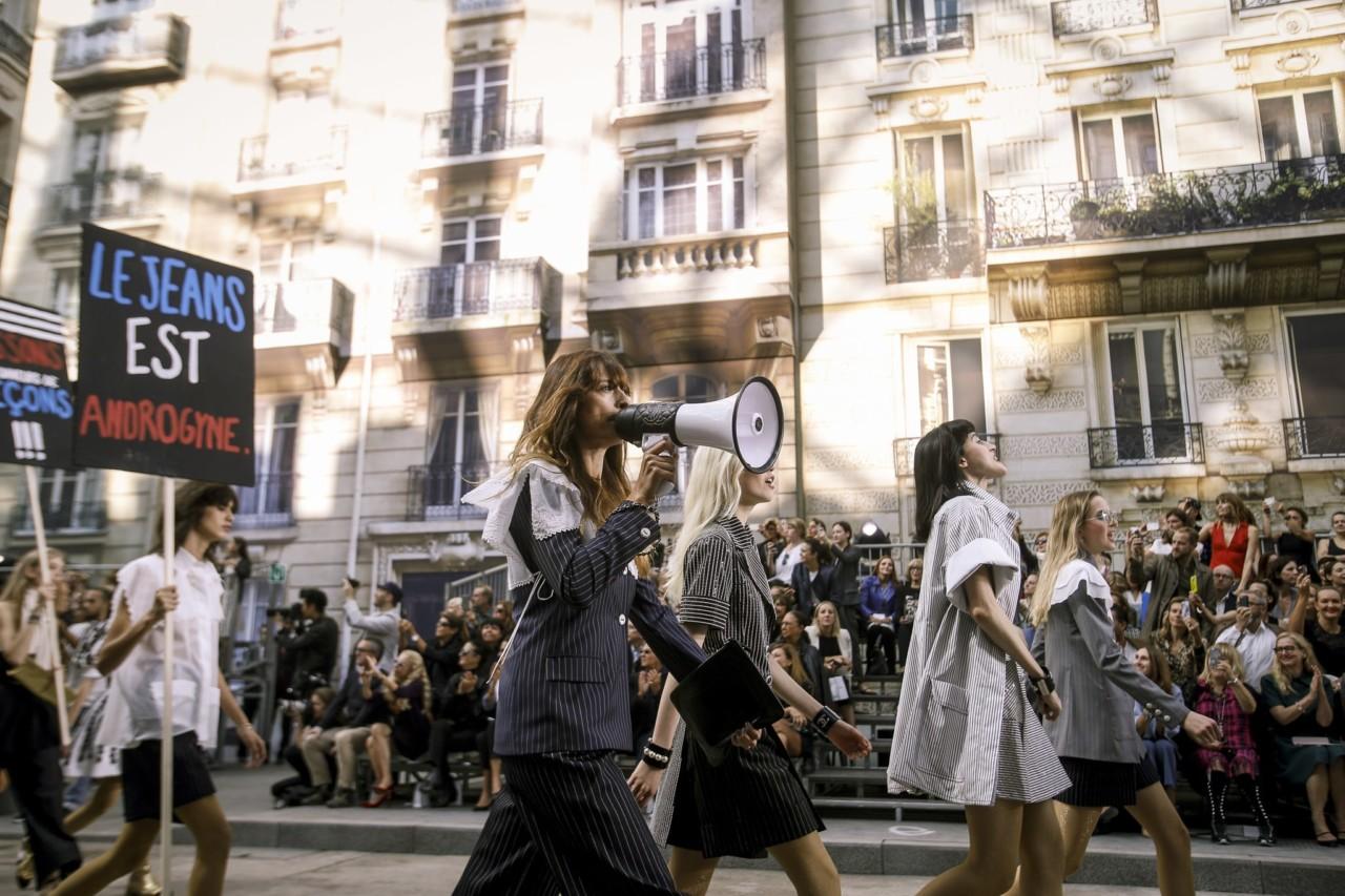 The activist wears Prada