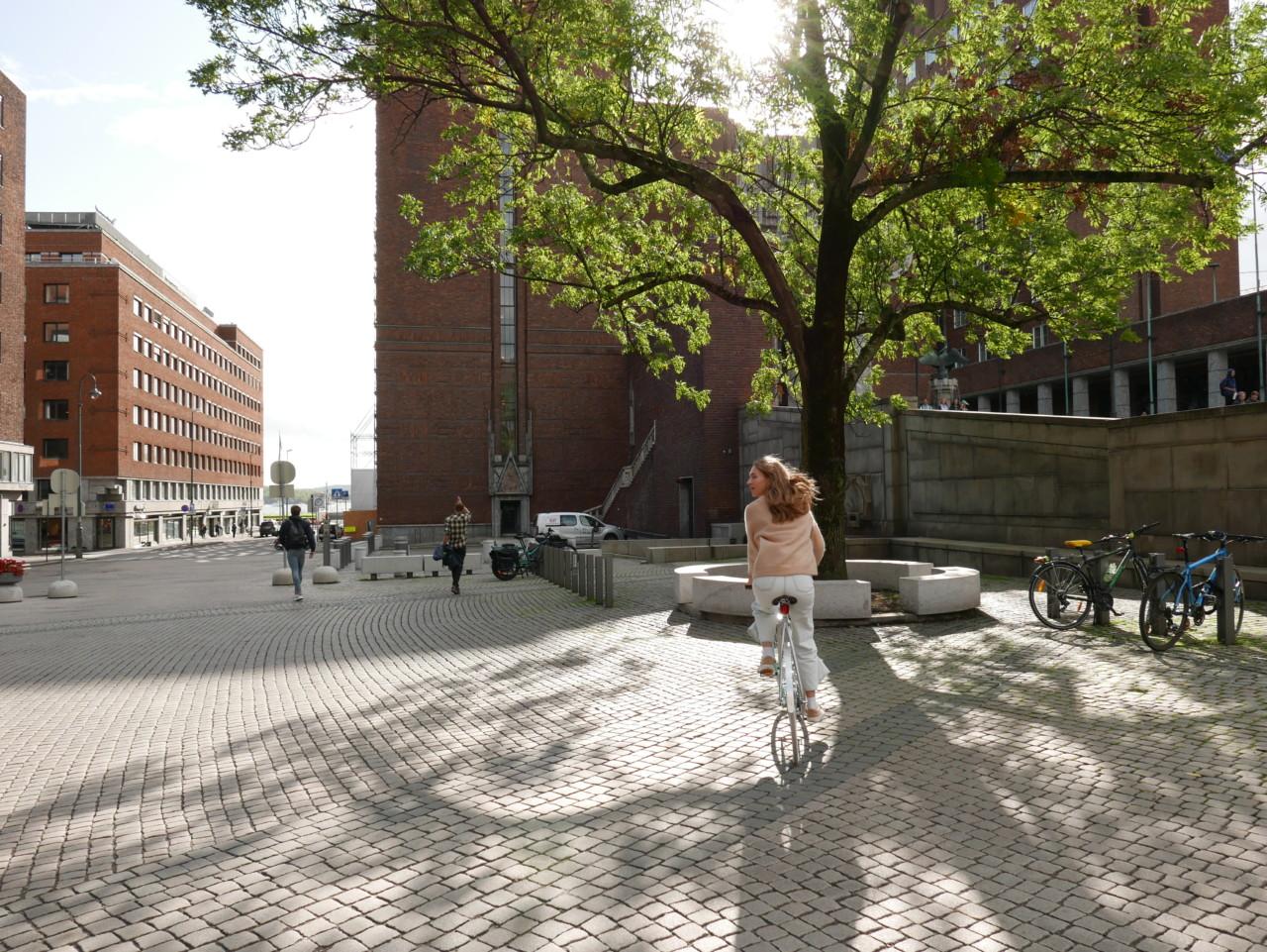 bysyklist-i-oslo-green-house