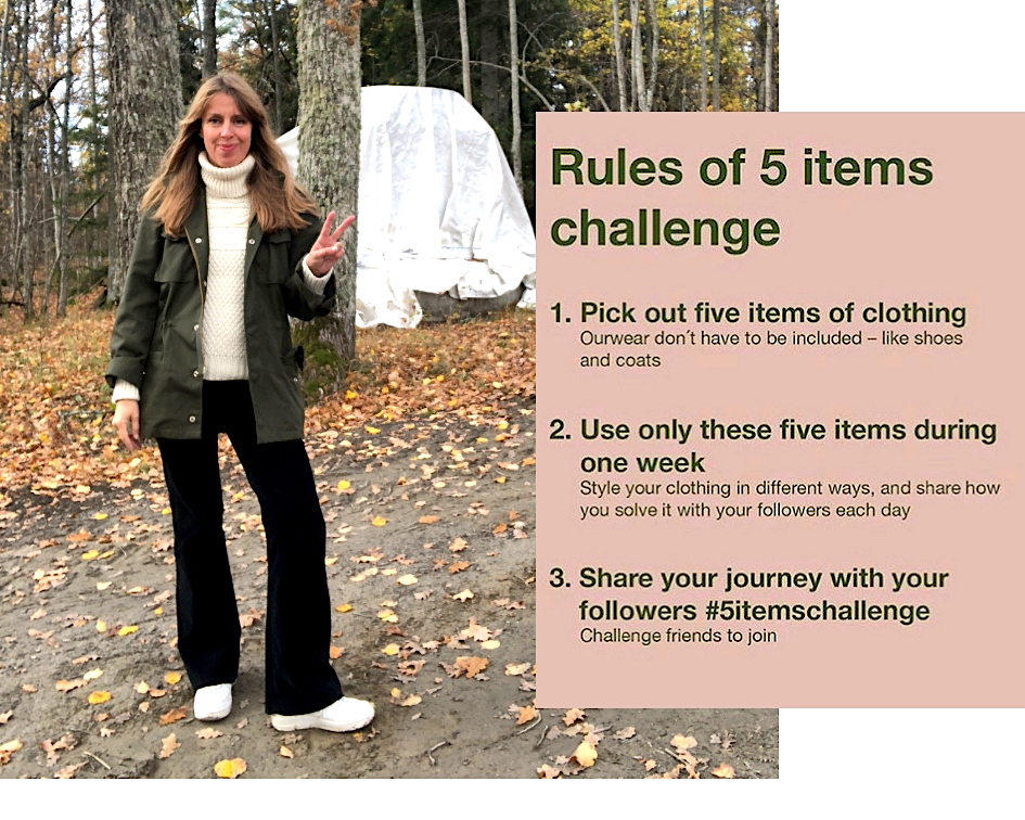 anja-stang-five-items-challenge-rules
