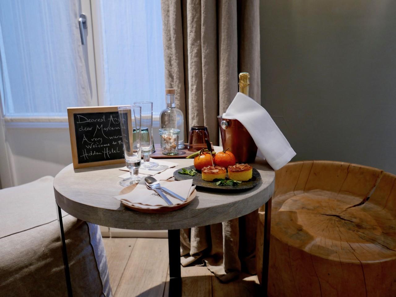 velkomst-hidden-hotel-paris-champagne-glutenfri-kake