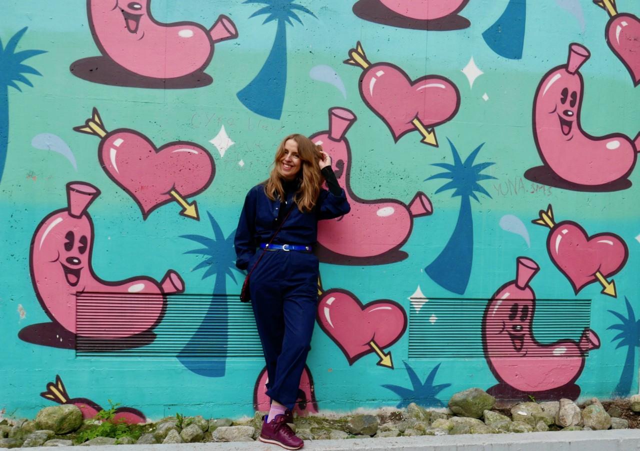anja-stang-jumpsuit-kjeledress-aiayu-street-art-stavanger