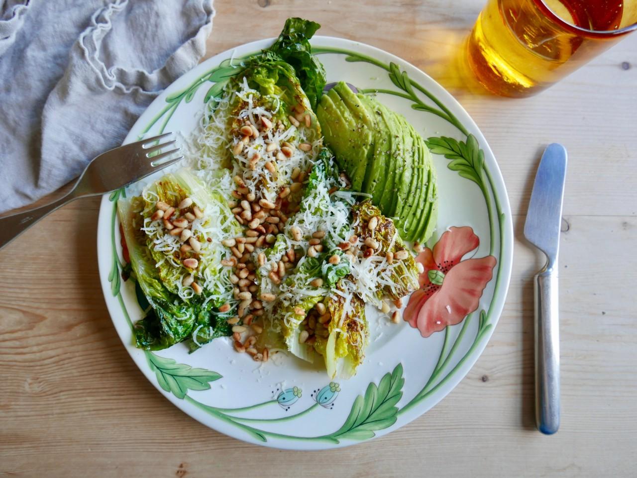 Grønn mandagsmeny og stekt salat til lunsj