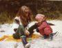 meg-og-mamma-strand-liten-barndom
