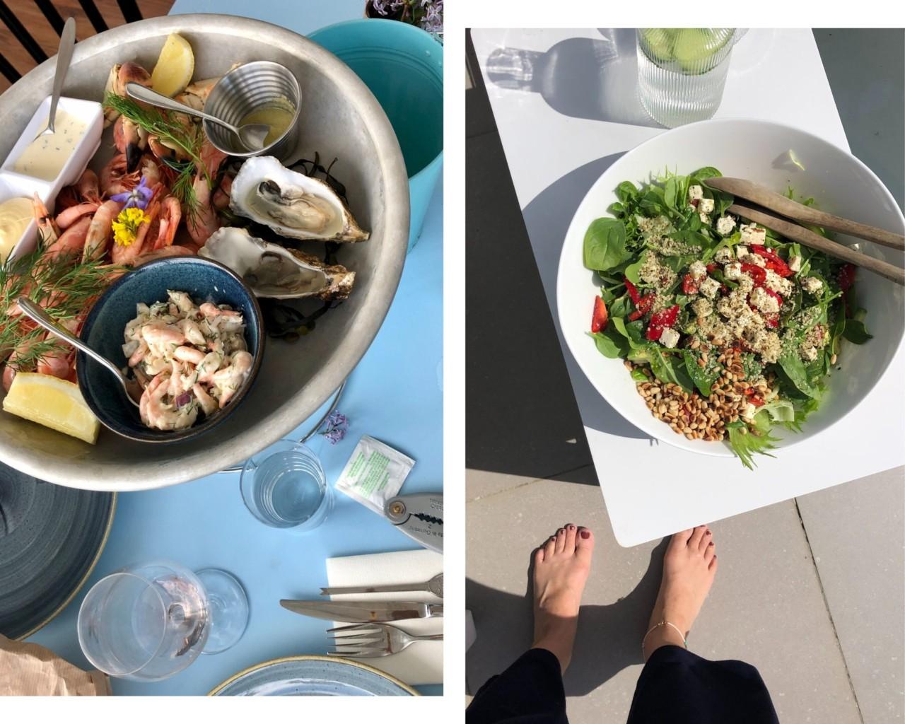sommermat-lunsj-salat-skalldyr-lille-herbern-bygdoy