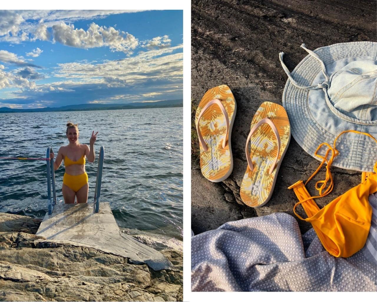 kveldsbad-nesodden-hornstranda-resirkulert-bikini-weekdays-sleepers