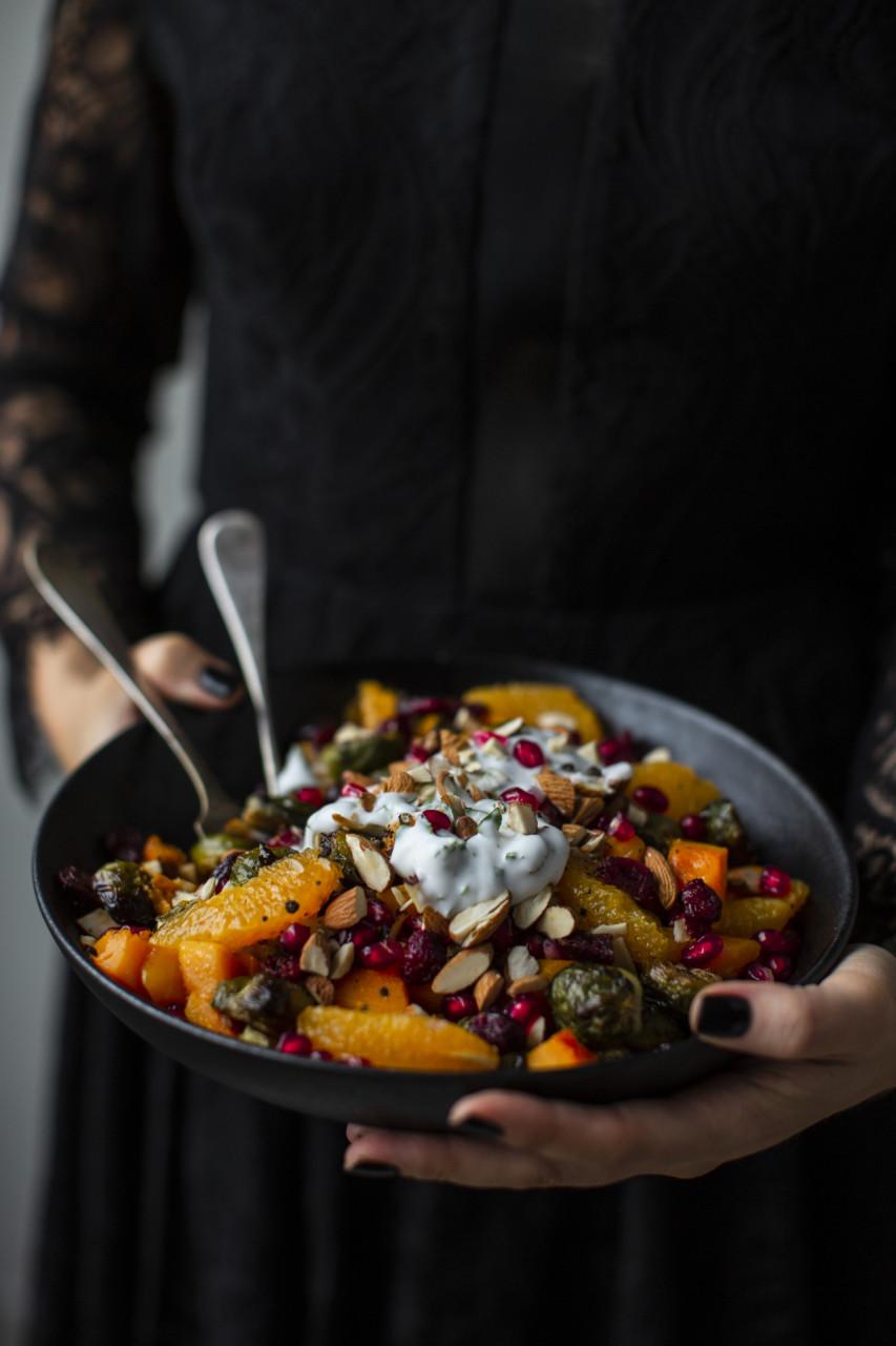 hanne-lenes-vegetar-rosenkaal-salat-vegansk-julemat-plantebasert