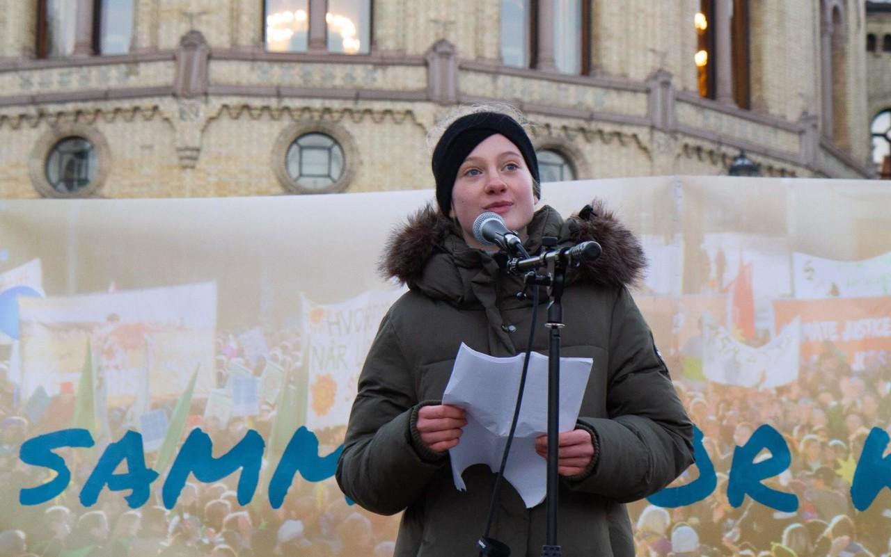 penelope-lea-tale-stortinget-klimaaktivist