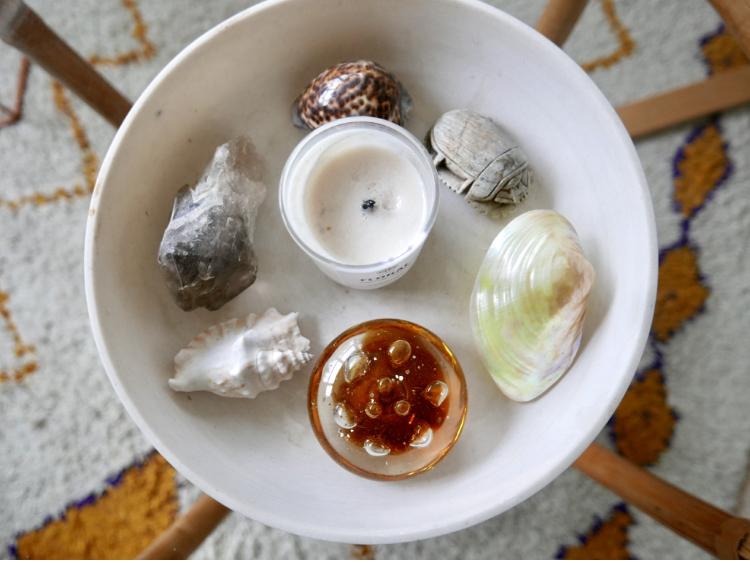 spiritualitet-duftlys-skjell-krystall-skarabe-greenhouse